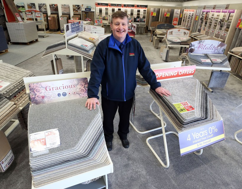 Shades of grey prove the right mix for national carpet and bed retailer's Stockton branch