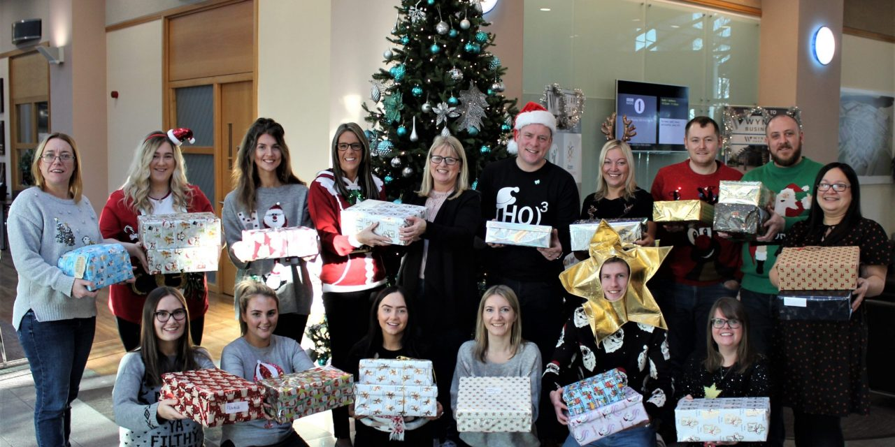 Staff at accountancy firm get into the festive spirit to support Christmas shoebox appeal