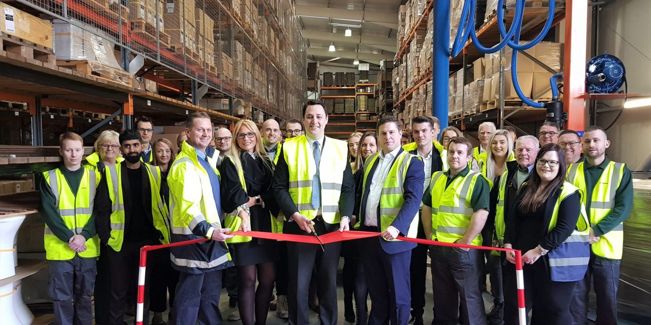 Growing Billingham bathroom firm unveils its newly refurbished warehouse
