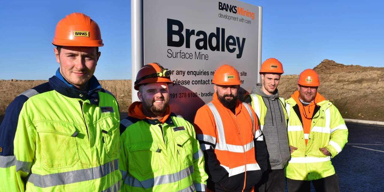 Five former apprentices secure full time jobs with Banks Mining
