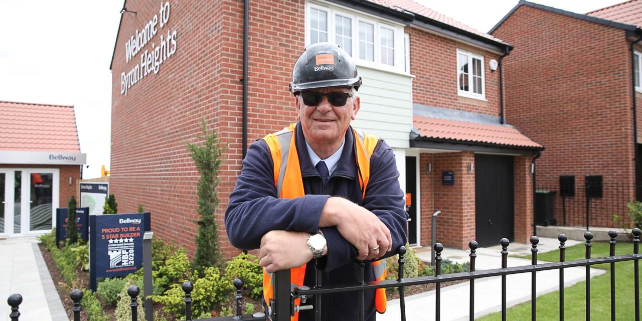 Prestigious national award for housing developer site manager