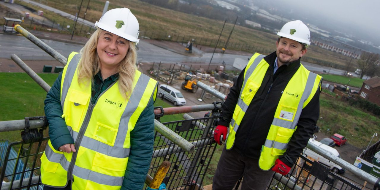 £7.9m housing development boasts stunning views across the Tyne as building works reach new heights