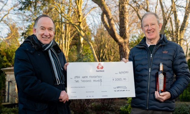 Three cheers for The Lakes Distillery as it donates to Open North Foundation