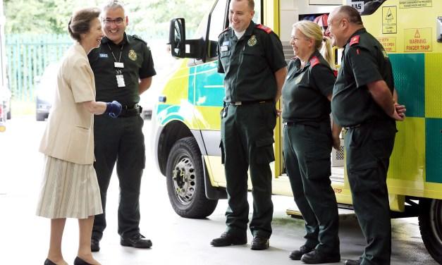 Ambulance service welcomes Her Royal Highness The Princess Royal