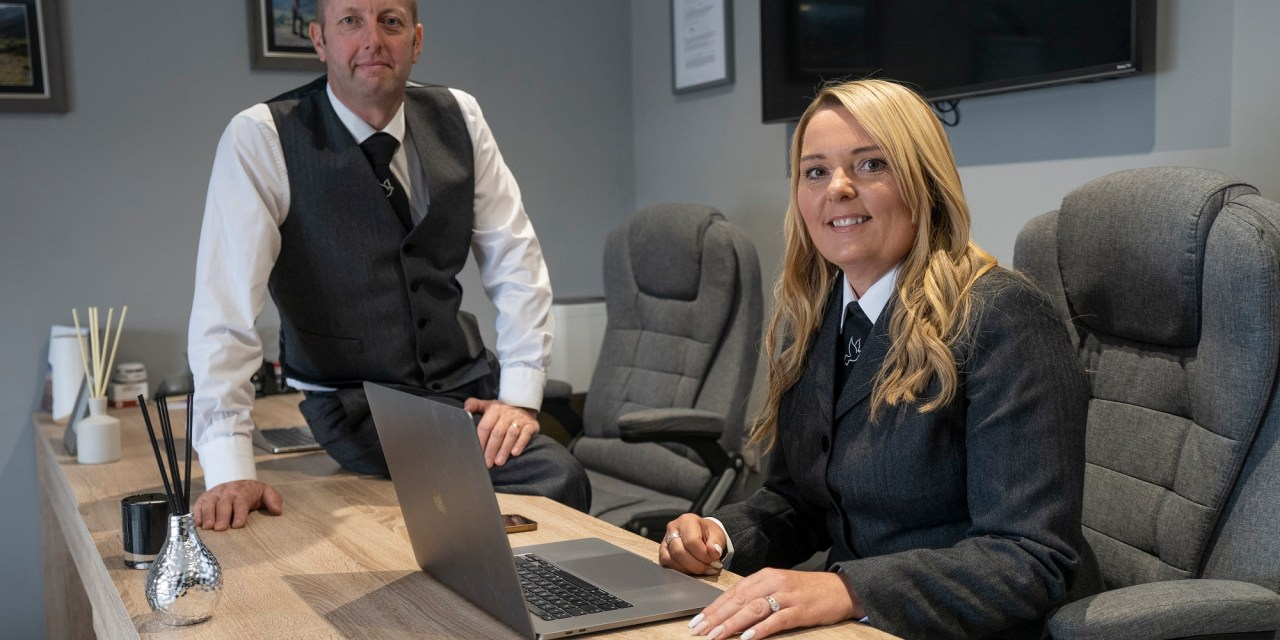 New office and Jaguar fleet for funeral services company to mark first anniversary