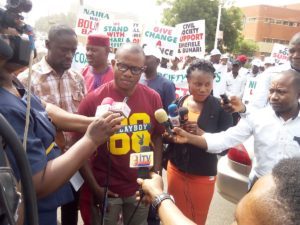 Pro-Buhari, Emefiele Protesters Storm Abuja