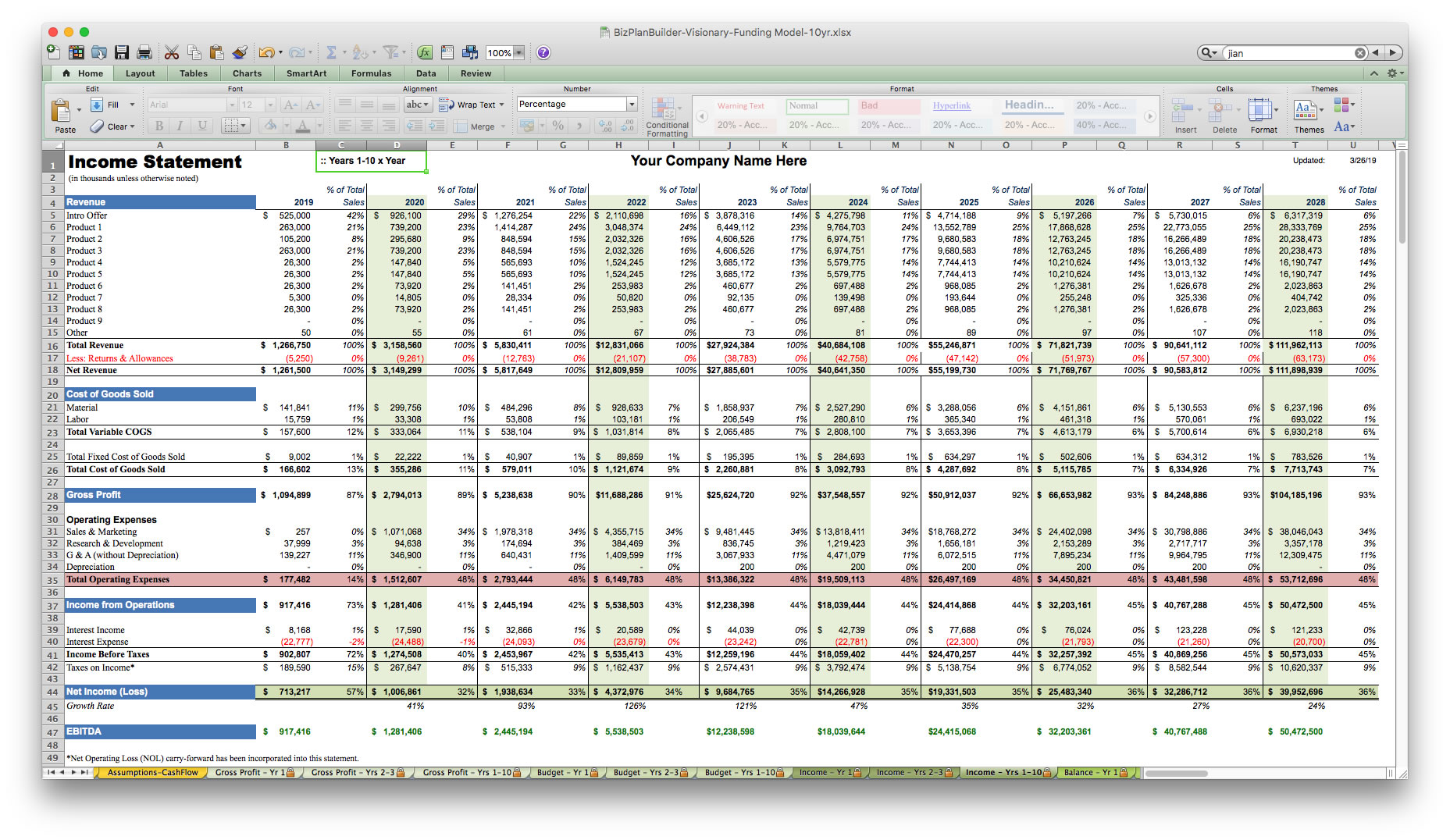 Sample Excel Templates Financial Plan Template Excel