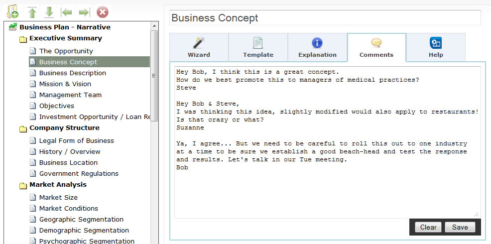 Web based bizplanbuilder online business plan software write your business plan with collaboration accmission