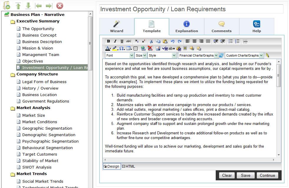 web based bizplanbuilder online business plan software