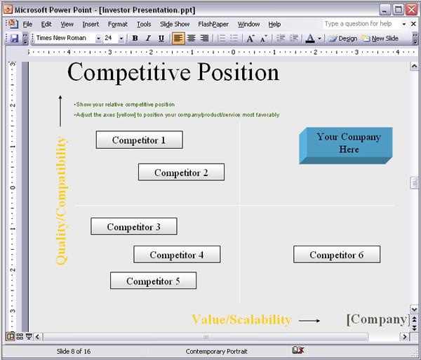 Bizplanbuilder Business Plan Template Software Table Of Contents