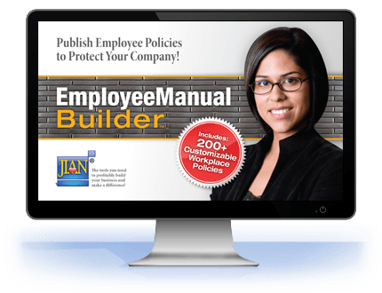 JIAN Employee Manual Builder workplace policy policies handbook software template shrm california chamber of commerce