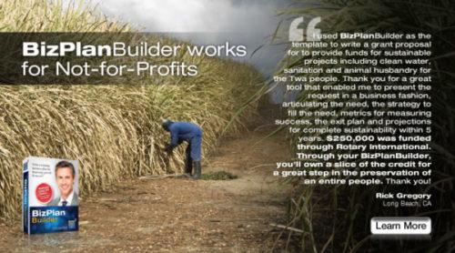 BizPlanBuilder business plan software template non-profit not for profit grant