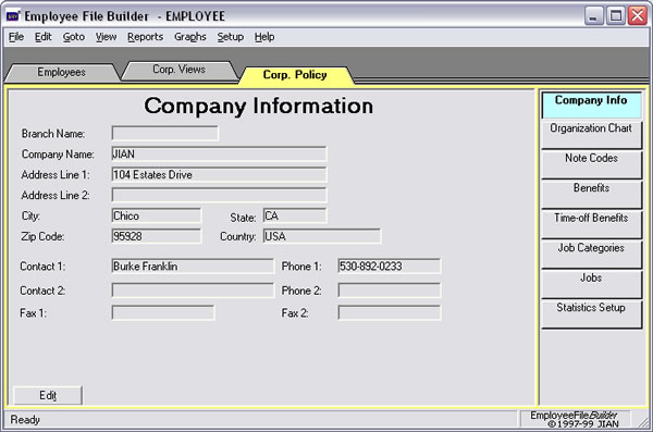 employee data hr management company software app database system