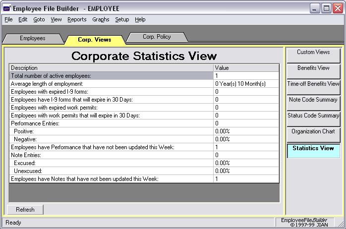 employee data hr management stat statistics software app