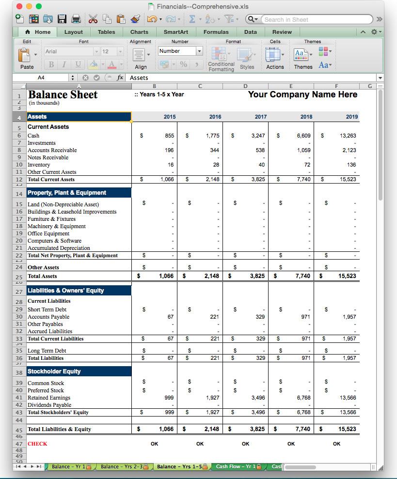 business plan template software