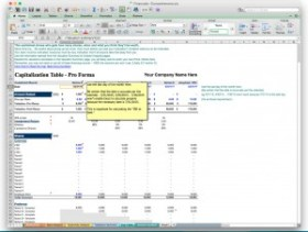 business plan software excel template financial projection forecast model cap table