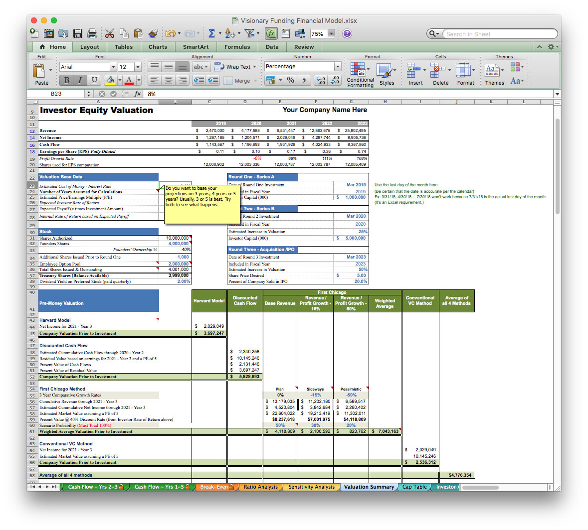 Business Plan Financial Model Template BizPlanBuilder - Business plan template excel