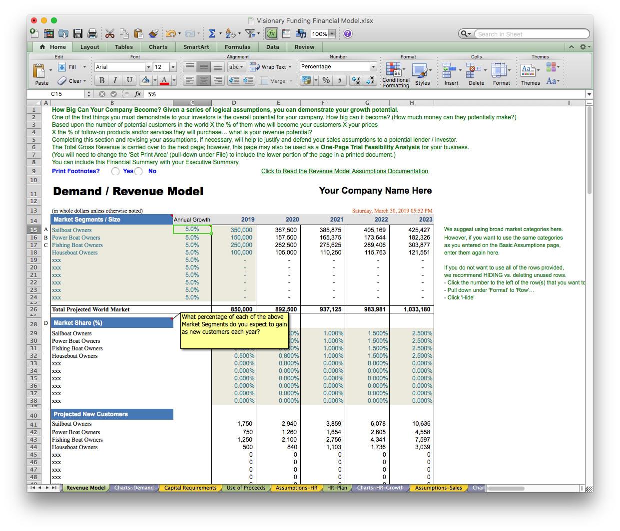 Business Plan Financial Model Template - BizPlanBuilder