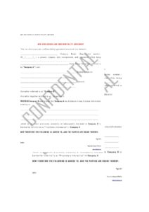 Free Non-Disclosure Agreement