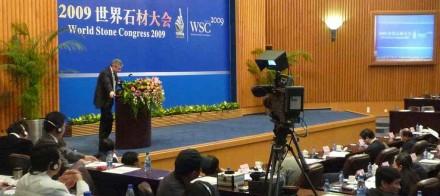 At the World Stone Congress 2009 in Xiamen. Photo: Confindustria Marmomacchine