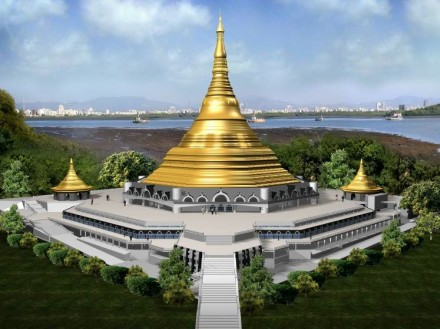 "The ""Global Pagoda"" in May 2008. Photos: Global Vipassana Foundation"