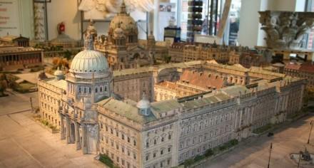 Das alte Berliner Stadtschloss im Modell.