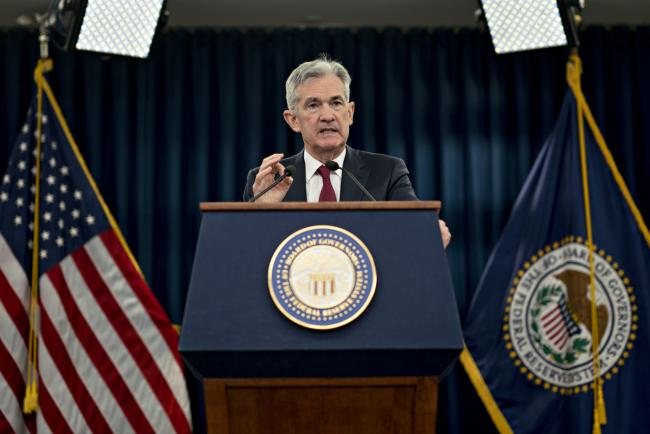 © Bloomberg. Jerome Powell, chairman of the U.S. Federal Reserve, speaks during a news conference following a Federal Open Market Committee meeting in Washington, D.C. on Wednesday, Dec. 19, 2018. Photographer: Andrew Harrer/Bloomberg