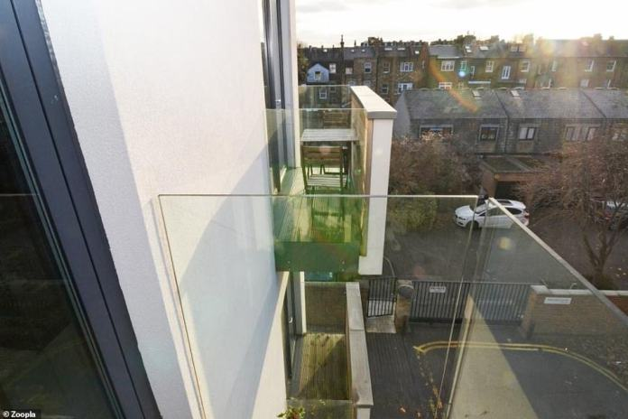 The flat comes with three west-facing balconies, as well as sought-after underground parking