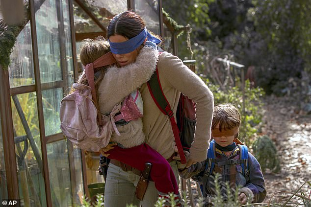 New direction: Bird Box, starring Sandra Bullock, was given showings in the UK and US