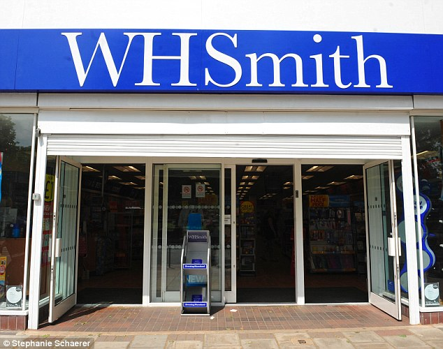 High-street woes:Across its high-street stores, WH Smith's sales fell by 1 per cent on a like-for-like basis