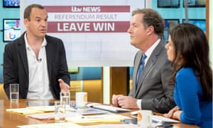 Lewis with Piers Morgan and Susanna Reid on Good Morning Britain …