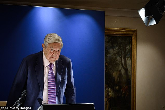 Soros, pictured at the World Economic Forum in Davos last month, has vehemently voiced his opposition to Brexit