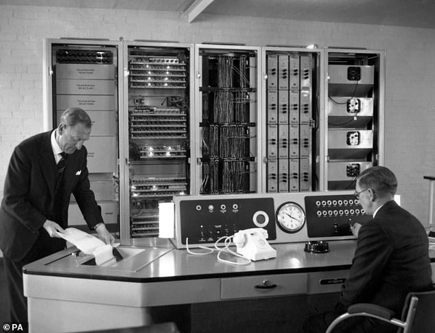 The original Ernie, invented in 1956 by the Bletchley Park code-breaking team, was the size of a small van, at 3 m long, 2 m high and weighing 1.5 tonnes