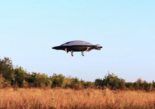 "A company say they have made a real-life flying saucer that could reach America from Europe in one hour. Rather than being a gimmick, the developers claim the ADIFO (All Direction Flying Object) is the first VTOL aircraft in the world able to fly in all directions. Low speeds allow the craft to operate like a drone, but in-built jets would see it achieve supersonic speeds efficiently thanks to the wing-shaped fuselage. Hyper-maneuverability concept for an aircraft would also allow it to suddenly change flying direction at high speeds. A scale model has been demonstrated (video available: info@cover-images.com) but suggested future applications include private aircraft, fighter jet, unmanned combat vehicle, or even as a suborbital vehicle. Razvan Sabie, one of the two inventors, explains: ""The ADIFO name comes from All Direction Flying Object. ADIFO is the first flying VTOL aircraft in the world, able to fly in all directions, under the same aerodynamics characteristics. Actually, ADIFO is a special circular wing with high flight performances. Let's say that is the first ""flying saucer"" in the world which really flies and it's designed to reach in the near future more and more high performances, pretty close to the performances described in the popular culture related to such kind of aircraft. ""The aerodynamics behind this aircraft is the result of more than two decades of work. It's the only one bi-directional airfoil known and functional. The possibility to reach much easier supersonic speeds (for a normal airplane the drag coefficient increases 7-8 times during the transonic flight, respect to maximum two times for this aircraft), combined with the hypermaneuvrability can offer you a picture regarding the potential of this aircraft. Also, it can be realised for very high speeds: the circular shape is ideal for a boost-glide on the stratosphere (jumping like a disc shaped rock on the water surface). Using this kind of flight you can reach US from Europe in l"