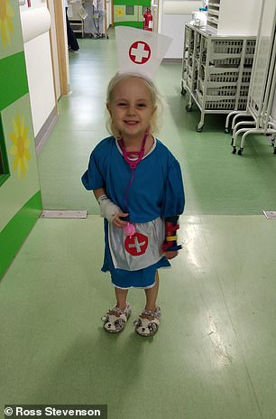 Chloe's mother, Vanessa Carter, said she 'struggled to cope' with doctors not being able to explain her daughter's condition