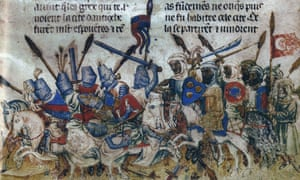 A depiction of the siege of Antioch during the First Crusade