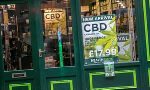 CBD products on sale in a Blackpool health food shop