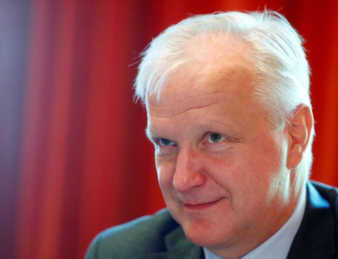 © Reuters. Finland's central bank governor Rehn in Helsinki