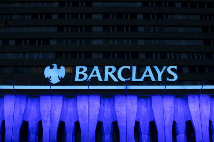 © Reuters. File photo of the logo of Barclays seen on the top of one of its branch in Madrid