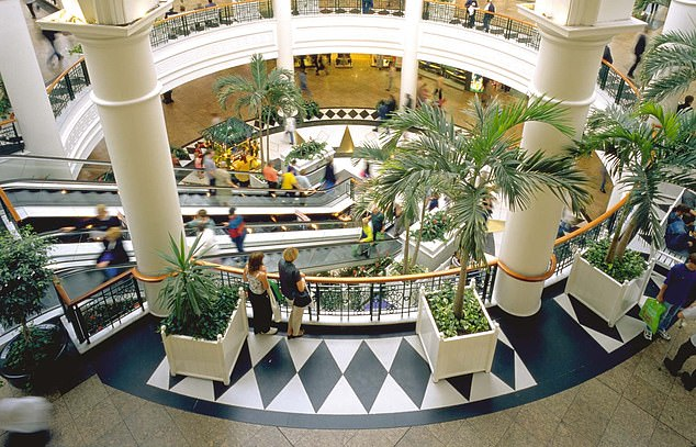 Retail woes: British Land's assets include the Broadgate offices in London and the Meadowhall shopping centre in Sheffield (pictured)