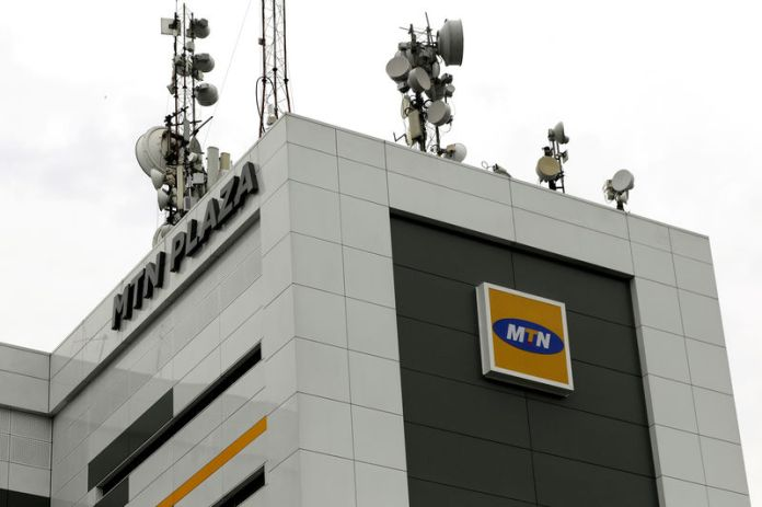 © Reuters. FILE PHOTO: A general view shows MTN head office in Lagos