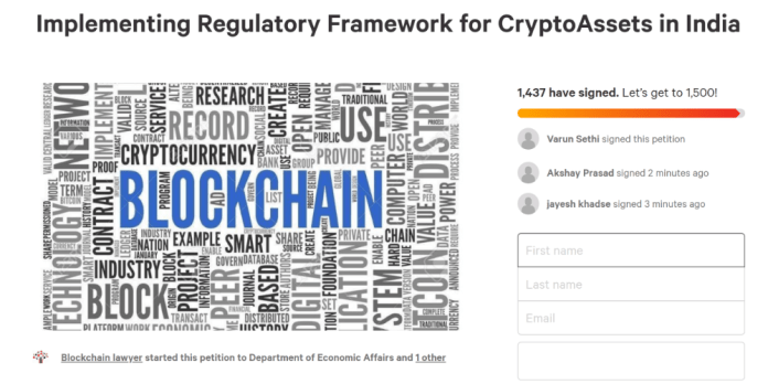 Indian Crypto Community Petitions to Accelerate Regulation