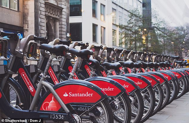 On yer bike: Residents in Central London might have to use alternative modes of transport to travel on Sunday 22 September if their street is one of the routes cordoned off to car