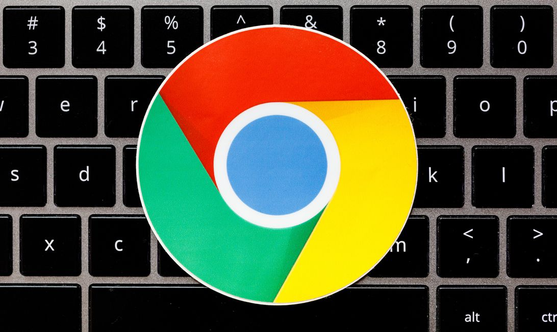 A Google Chrome sticker