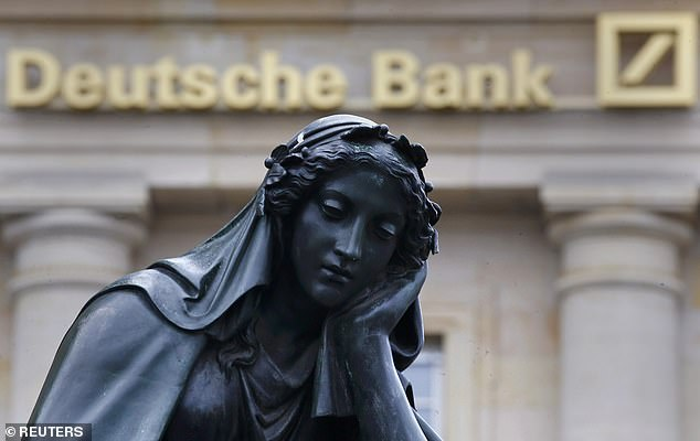 Lay offs: Deutsche Bank has been forced to dismiss thousands of staff after more than a decade of decline which has seen its share price fall 95 per cent