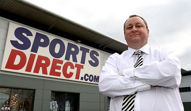 Sports Direct shares are in the red after the Mike Ashley (above) led retail group pushed back its full-year results