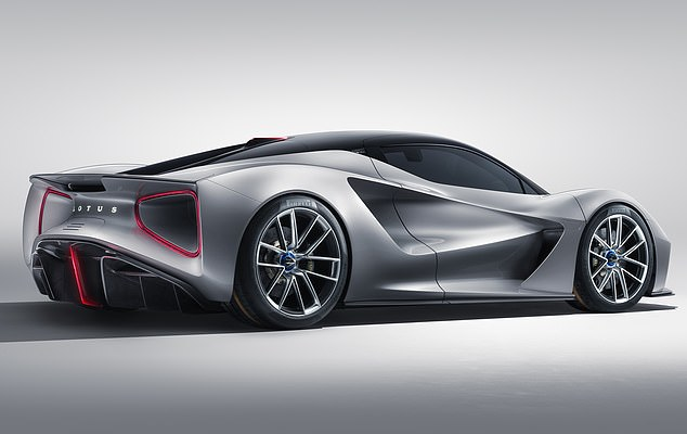 Flagship: The new Lotus Evija is a £2m, 200mph electric 'hypercar' which is intended to spearhead the Norfolk firm's revival under Chinese ownership
