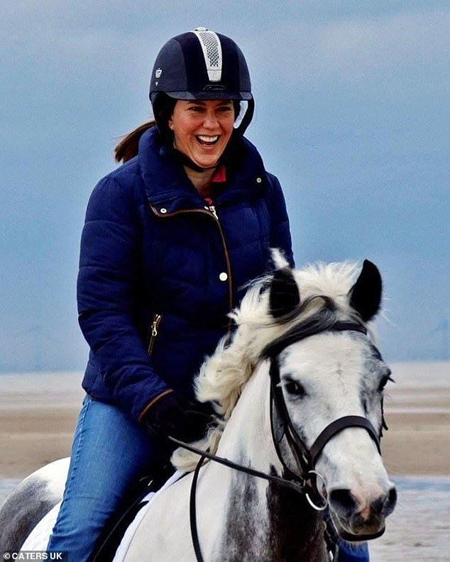 Eventually the riding instructor she was sent for an ultrasound when she found a lump in her omen, which is where her 'nightmare' began.