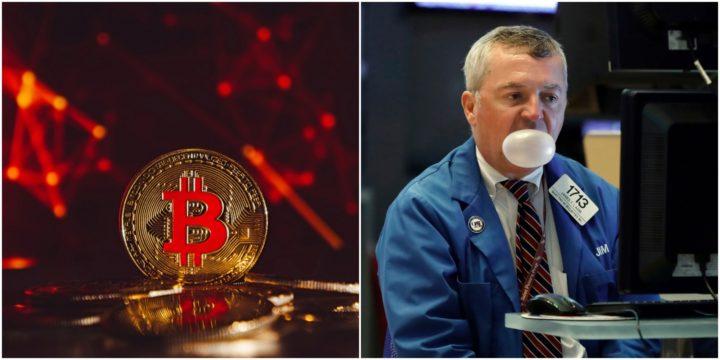 Bitcoin price vs stock market in 2019