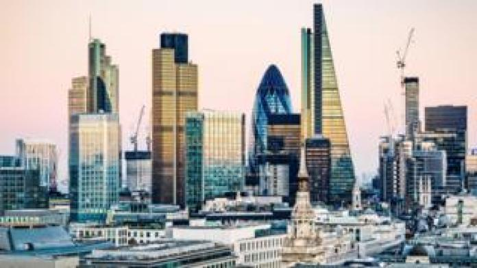 General view of the City of London